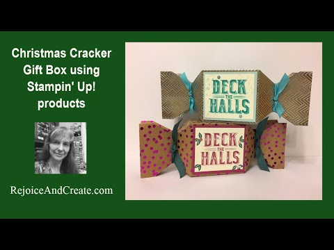 Christmas Cracker Gift Box with Stampin' Up! Products