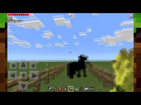 HORSES in Minecraft: Pocket Edition! - Horses Mod [0.10.5]
