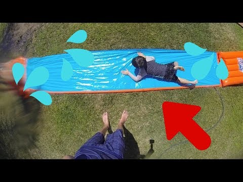 20FT GIANT SLIP N' SLIDE!