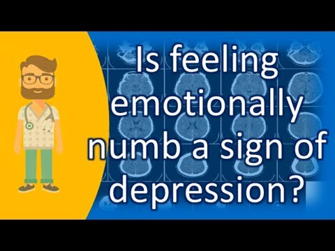 Is feeling emotionally numb a sign of depression ? | Mega Health Channel & Answers
