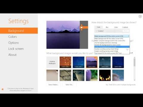 Customize the Windows 8 start and lock screen backgrounds with Decor8™!