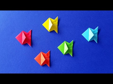 How to Make an Origami Fish - Easy Tutorial - DIY 🐟 (Stéphane Gigandet)