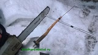 Как пилить дрова бензопилой 2: приспособление для дров одной длины