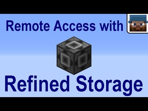Minecraft Talk 27 - Remote Access with Refined Storage