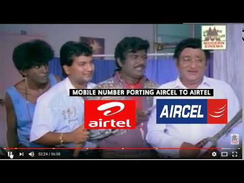 AIRCEL TO AIRTEL MOBILE NUMBER PORTING