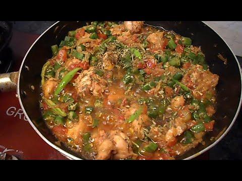 Chicken Bhindi Fry Masala Recipe    Pakistan