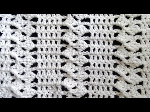 Fancy Blocks Crochet Stitch - Right Handed Crochet Tutorial