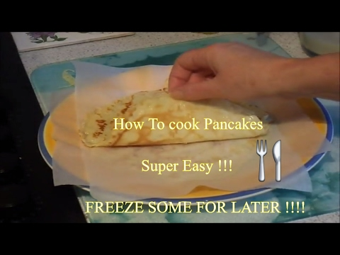 How to Make pancakes, Cook and also Freeze them !!! super easy