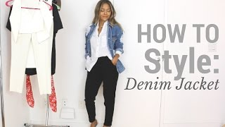 How To Style: Denim Jacket | Outfit Ideas   Lookbook