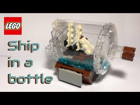 LEGO ship in a bottle - mini version