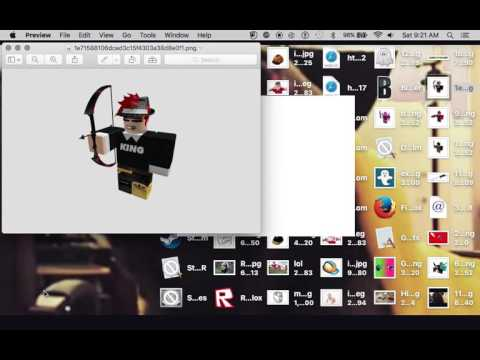 how to make a custom thumbnail with your roblox character!(mac)
