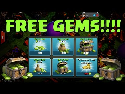 Clash of Clans - Unlimited Free Gems!! Free Gift cards!!