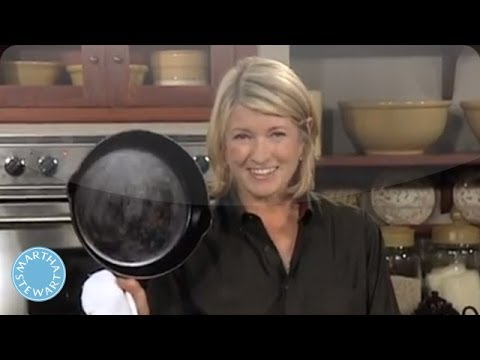 Cleaning and Seasoning Your Cast Iron Skillet - Martha Stewart