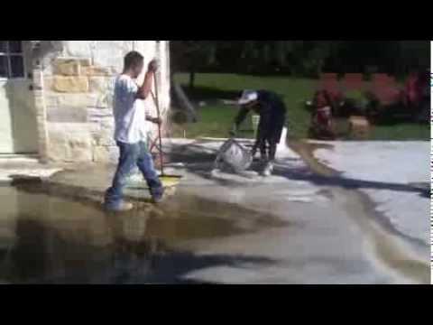 Acid washing a pool deck
