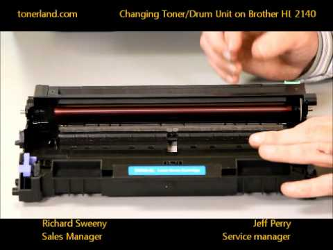 Brother HL 2140 - How To Change Your Toner/Drum