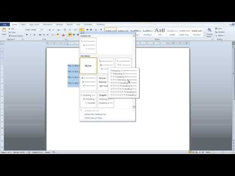 Word Tutorial for Beginners - Create a list in Word