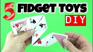 Download NEW! 5 COOL DIY FIDGET TOYS - FUN EASY DIYS- FIDGET TOYS FOR KIDS TO MAKE USING HOUSEHOLD MATERIALS Video