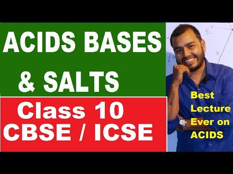 Acids Bases  and Salts 01 : ACIDS : CBSE / ICSE CLASS 10