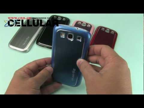 Samsung Galaxy S III ROMEO hard cases w/ diamond cut brushed aluminum metal insert finish