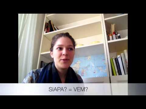 Indonesiska för svenskar 7 (När, var och hur och andra stora frågor)