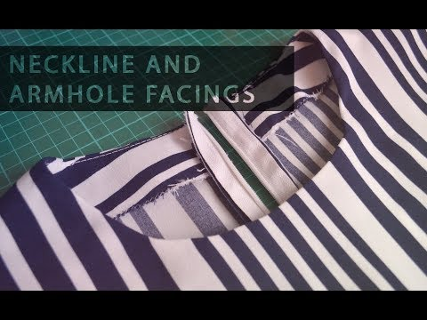Pattern Drafting Tutorial – Neckline and Armhole Facings • Elewa