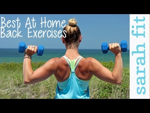 Top 3 at Home Back Exercises For Women | WORKOUT