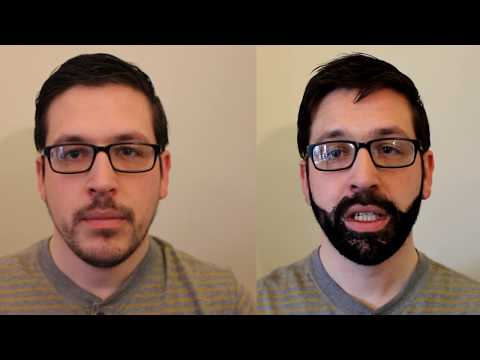 Creating a 'fake' beard using hair building fibers
