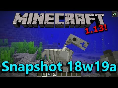 Minecraft 1.13 Snapshot 18w19a- Underwater Horses, Heart of the Sea, Sinking Undead!