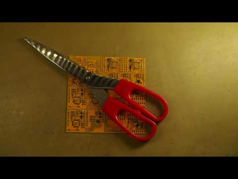 Doing it wrong #1 - Cutting circuit boards with scissors