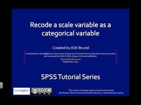 Recode a scale variable into categories in SPSS