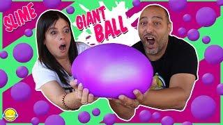 Download DIY GIANT SLIME STRESS BALL Super Soft & Squishy Pelota Gigante de Slime Anti Estrés Bego y Jordi Video
