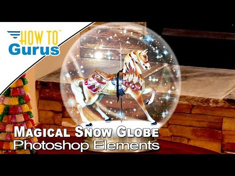 How to Make a Photoshop Elements Magical Snow Globe in 2019 2018 15 14 Christmas Card Templates