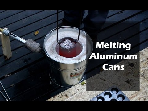 Melting Aluminum Cans with DIY Foundry