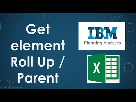 Get element Roll Up or Parent. TM1 Perspectives Function useful for mapping hierarchy