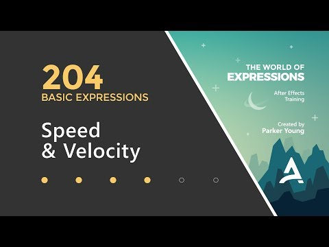 After Effects Expressions 204 - Speed & Velocity