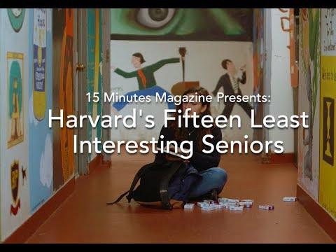 Harvard's 15 Least Interesting Seniors