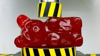 EXPERIMENT HYDRAULIC PRESS 100 TON vs GIANT GUMMY BEAR