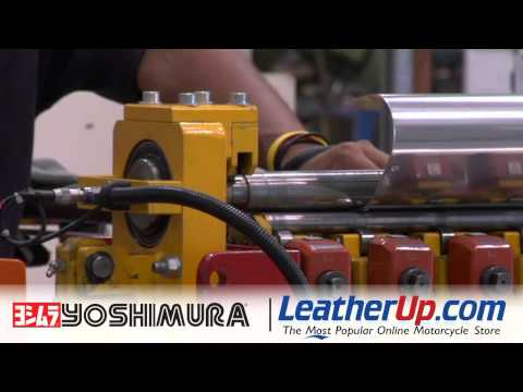 Yoshimura - Making a Muffler Sleeve - LeatherUp.com