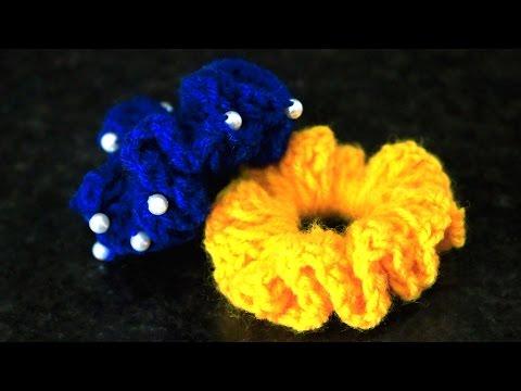 How to make Woolen Flower   Designer Hair Bands by SrujanaTV