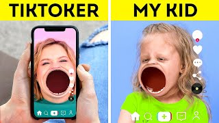 TIKTOK vs MY KID    How To Be A Cool Parent For Your KIDS