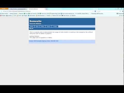 Create a Horizontal Web Site Navigation Bar using CSS