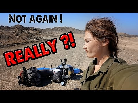 On a deserted island and I crashed the bike - Adventure riding Oman Episode 13