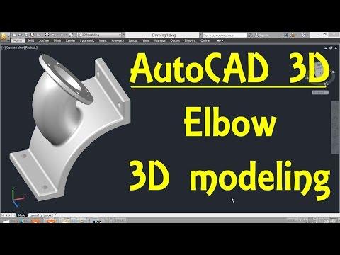 Elbow AutoCAD 3D modeling tutorial   AutoCAD 3D Modeling 22