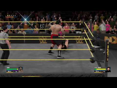 Me vs Kevin Owens for the NXT Championship (wwe 2k 16 career mode episode 1)