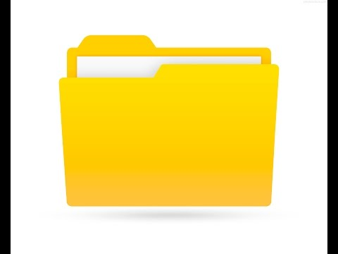 How to create a folder in windows. Basic Computer lesson.