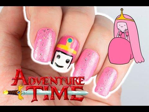 Adventure Time Princess Bubblegum Nail Design   Viki Nailbeauty