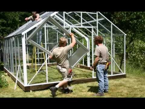 Everlast Greenhouse Kit Being Assembled