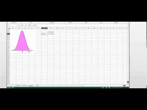 How to use EXCEL calculate the Probability for the standard Normal Distribution