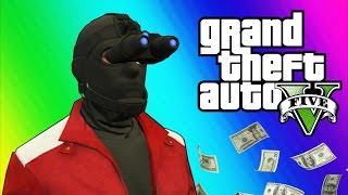 GTA 5 Heists #2 - Invisibility Glitch, Hydra Jet, Humane Labs! (GTA 5 Online Funny Moments) [Part 2]