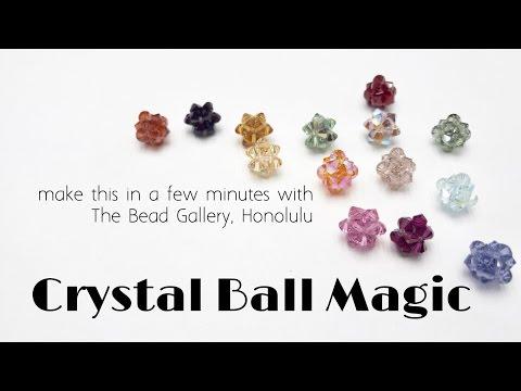 Crystal Ball Magic - Easy Beadweaving Tutorial at The Bead Gallery!